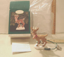 Rudolph The Red-Nosed Reindeer~Magic Light~1996 Hallmark Ornament~Collector Club