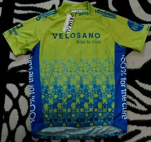 NEW  2019 VeloSano Primal Raglan Cycling Jersey Cleveland Indians Men's Medium
