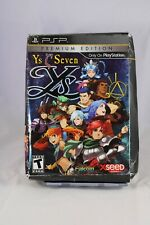 Ys Seven: Premium Edition (Sony PSP, 2010) Box and Extras ONLY!