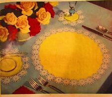 Vintage 1949 Crochet PATTERN for Daisy Luncheon Set