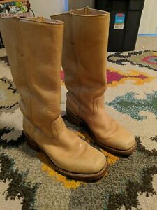 Frye Honey Brown Campus Boots Size 10M