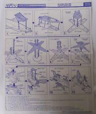 VINTAGE! 1988 Hasbro GI Joe Replacement Instructions-Blueprints-Skystorm