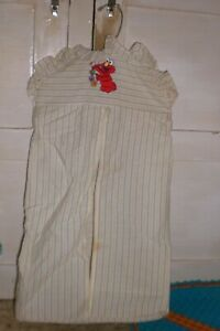Vintage ELMO Baby Diaper Holder STRIPED YELLOW BLUE AND WHITE - CLEAN