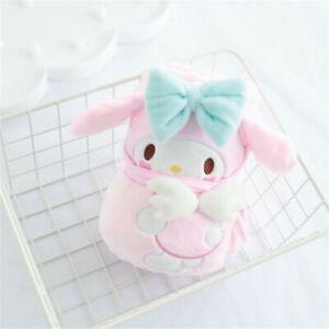 Japan My Melody Cinnamoroll Purin Plush Flannel Soft Throw Blanket Gift 100*75cm