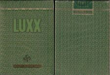 LUXX Elliptica Green Playing Cards Poker Size Deck LPCC Custom Limited Edition