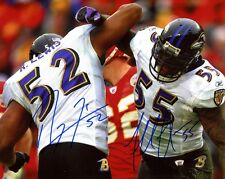 Ray Lewis & Terrell Suggs Autographed 8x10 Photo Reprint Baltimore Ravens