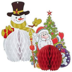 Christmas Home Ceiling Decorations Santa Claus Snowman Tree Hanging Decoration
