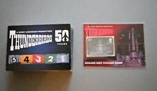 THUNDERBIRDS 50TH TRADING CARDS BASE SET WITH T1 RARE STAMP CARD PS1