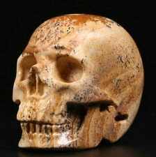 Picture Jasper Carved Crystal Skull 85g / 5.1cms
