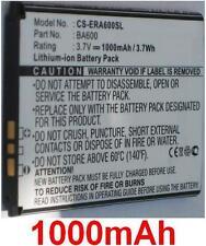Batterie 1000mAh Pour SONY ERICSSON Kumquat, ST25, ST25i, Xperia U, type BA600