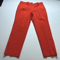 Talbots Heritage Fit Red Orange Dress Pants Size 14 A1808