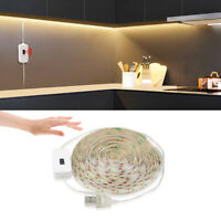 Under Cabinet Closet Hand Wave Motion Sensor USB LED Strip Light Tape Waterproof