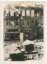 8X10 PHOTO REPRINT WAR/HISTORY ROTTERDAM, HOLLAND, BURNING AFTER GERMAN BOMBERS