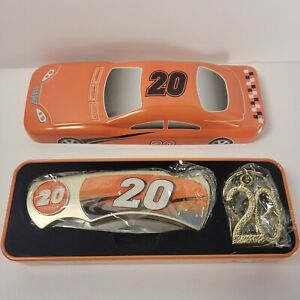 NASCAR #20 Collectors Knife Keychain in Tin.car Collectible Car Racing Dragster