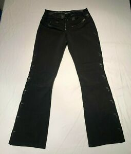 Women's JET SET Black on Black Starred Ski Pants High Performance/Style (LARGE)