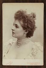 Armande Cassive, Actrice de théâtre, Cabinet card, Photo Nadar Paris