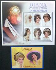 Guyana 2003 Lady Diana Royalty Britisches Königshaus 7486-7491 Block 749 MNH