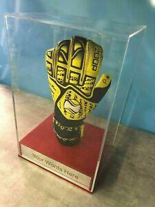 Goal keeper Glove Display Case Personalised Engraved Football Memorabilia
