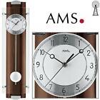 AMS Horloge murale 5259/1 radio-piloté pendule Paroi arrière en bois massif