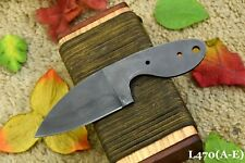 Custom 1095 High Carbon Steel Blank Blade Skinning Hunting Knife,No Damascus (A)