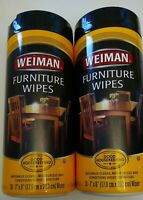 Weiman Furniture Wipes Wood Cleaner Protect And Polish Furniture Pack Of 2
