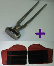 """Horse Equine Professional Hoof Nippers 15"""" Farrier Tool NEW + Fetlock Boots FREE"""