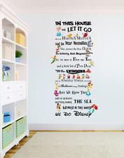 In This House We Do Disney Style Quote Rules Vinyl Wall Art Stickers Nursery