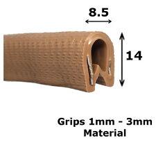 Sello de borde de protección estándar Coche Marrón Ajuste - 14 Mm x 8.5 Mm-Interior Exterior