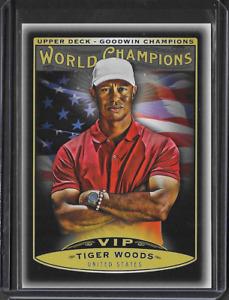 2019 UD Goodwin Champions Tiger Woods World Champions VIP Black PGA Golf SP Card