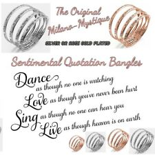 Gorgeous Dance Live Love Sing QUOTE BANGLE - Silver or Rose Gold Gift Bracelet