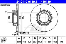 Bremsscheibe (2 Stück) - ATE 24.0110-0139.1