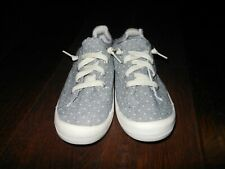 MADDEN GIRL BARBY Fashion Shoes Size 6.5M US Polka Dot Gray/Ivory