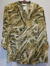 Bluse oliv beige Gr.54 Marke Rio Red.Viskose