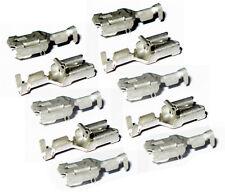 10x FASTON Flachstecker 6,3mm 0,5-1,5mm mit Rastnase POS LOCK Kontakt Buchse