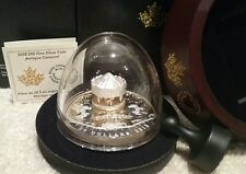 COA#7. 2018 Antique Carousel $50 6OZ Pure Silver Gold-Plated Proof Canada Coin