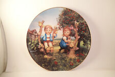 Vintage M J Hummel Apple Tree Boy & Girl Little Companions Collector Plate