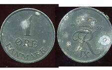 DANEMARK  1 ore 1957  zinc  ( bis )