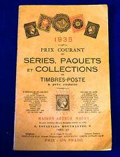 Catalogue Prix Courant de Séries, Paquets et Collections de Timbres. 1935