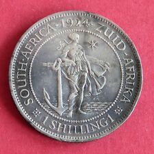 SOUTH AFRICA 1924 GEORGE V SILVER SHILLING