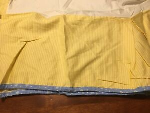 Carter's crib skirt DUST RUFFLE cribskirt cotton bright blue yellow stripes NEW
