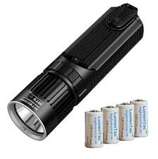 Nitecore SRT9 2150 Lumen Multi-LED Smartring Tactical Flashlight & 4x CR123A