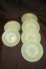 """Vtg Jadeite Saucers Plates 6"""" Fire King 4 Alice 2 Jane Ray Green Anchor Hocking"""