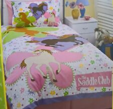 ~ Saddle Club - DOONA SINGLE BED HORSE QUILT DUVET COVER BED GIRLS Su