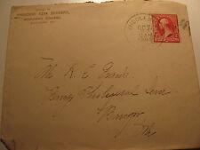 Middlebury College 2c Stamp 1894 Envelope President Erza Brainerd