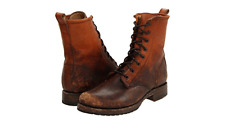 New in Box  Frye Veronica Combat Cognac Washed Leather Boots Size 6 MSRP $ 278