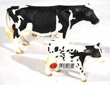New Schleich Holstein Cow # 13633 and Calf # 13634 Kit