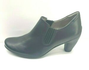 Ecco Size EUR 40 US 9  9.5 Black Leather New Womens Shoes