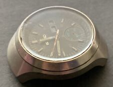 1970's Vintage Seiko Vader Helmet Case Chronograph For Parts, No Crown &Pushers.