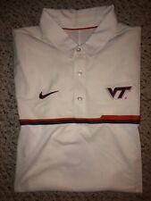 NWT Nike Virginia Tech Hokies Mens White Polo Shirt *S*