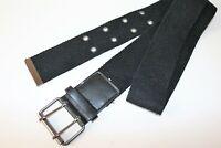 Women's Black Fabric Wide Belt Size S LIKE NEW #BEL2